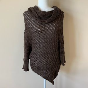 Anthropologie Wooden ships cowl neck poncho #1457
